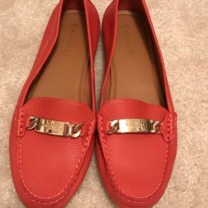 Coach  Olive Loafers- Coral-9.5